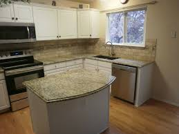 Caledonia Granite Kitchen Kitchen Backsplash Ideas With Cream Cabinets Craftsman Living