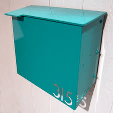 modern mailbox dwell. Amazing Moda Industria Modern Mailbox Powder Coated Aluminum With Mid Century Dwell