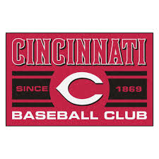 fanmats mlb cincinnati reds red 2 ft x 3 ft area rug