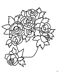new coloring book unique best vases flower vase coloring page pages flowers in a top i