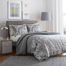 Light Gray Comforter Set Queen City Scene Branches Grey Comforter Set Full Queen Walmart Com