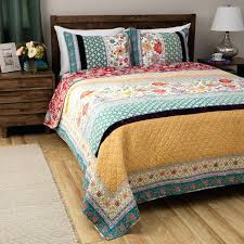 yellow and green comforter sets beautiful chic patchwork blue purple yellow green red bohemian global quilt yellow and green comforter