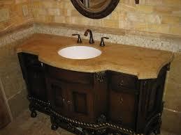 bathroom vanity granite backsplash. Luxurious Bathroom Vanities With Tops Brown Granite Single White Sink And Unique Mixer Taps Teak Wooden Panels Drawers Also Woods Vanity Backsplash P