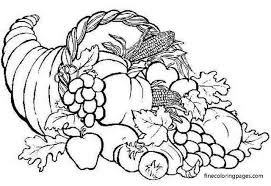 This coloring page shows several kids and their mom giving thanks for the beautiful season of autumn. 11 Best Free Printable Cornucopia Coloring Pages For Kids