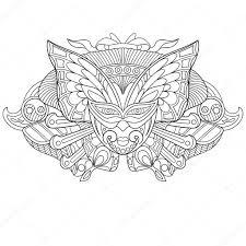 Zentangle Gestileerde Carnaval Masker Stockvector Sybirko 100357100