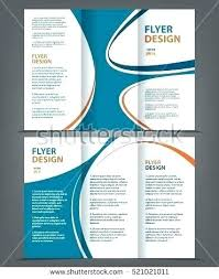 Folded Flyer Template Fold Brochure Design With Circle