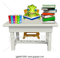 stacked chairs clipart. Brilliant Clipart Cute Chameleon Cartoon Character With Book Stack And Chair In Stacked Chairs Clipart T