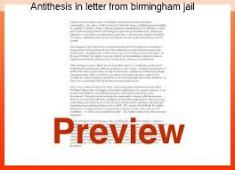 antithesis in letter from birmingham jail antithesis in letter from birmingham jail coursework writing service