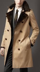 burberry long fur collar cotton trench coat 38348061 001