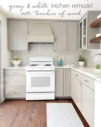 small white kitchens with white appliances. Gray \u0026 White Kitchen Remodel With Touches Of Wood @centsationalgrl Small Kitchens Appliances