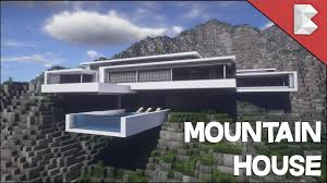 Modern Mountain House Minecraft Modern Mountain House Infinity Pool Build Tour W