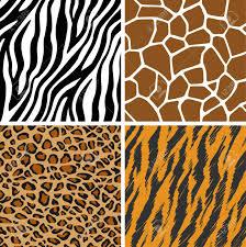 Tiger Pattern Awesome Animal Set Giraffe Leopard Tiger Zebra Seamless Pattern Royalty