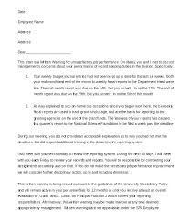 Written Verbal Warning Sample Warning Letter Template