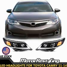 2014 Camry Led Lights Details About Vland Led Headlights For Toyota Camry 2012 2014 Head Lamps Assembly Projectors