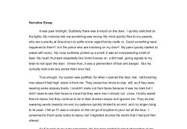 narrative essay sample an example of narrative essay