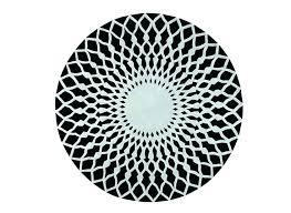 round black and white rug black and white circle rug white circle rug hand tufted rug