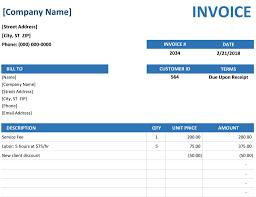 Generic Word Invoice Template Genericserviceinvoicetemplate Free