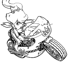 Small Picture Mario kart coloring pages princess peach ColoringStar