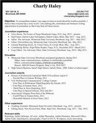 Effective Resume Sample For Newspaper Reporter Job Position News