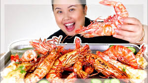 GIANT SHRIMP SEAFOOD BOIL MUKBANG 먹방 ...