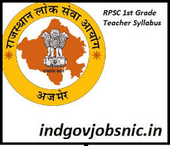 Teacher Syllabus Rpsc 1st Grade Teacher Syllabus 2019 Results Subject Wise Paper
