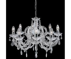 searchlight 399 8 marie therese chrome chandelier delicately trimmed with crystal glass droplets