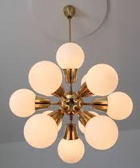 mid century sputnik chandelier in opaline glass brass 1960s 3