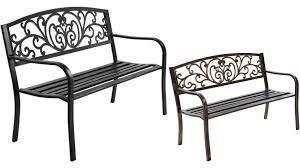 gardeon cast iron garden bench