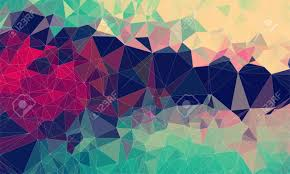 ilration low poly background design in geometric pattern polygon wallpaper in origami style polygonal texture ilration in color red and yellow
