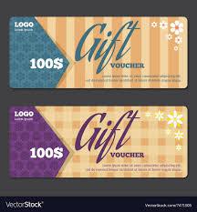 gift certificate design template vector image