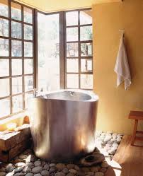 stainless steel circular japanese soaking bath 42 round x 35