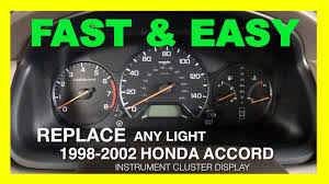 1998 2002 Honda Accord Odometer Backlight Fix Instrument Cluster Display Removal 6th Generation