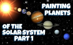painting planets of the solar system part 1 mercury and venus