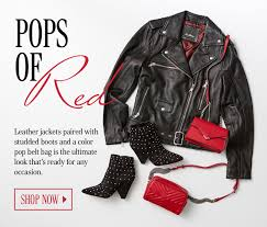 leather jackets paired with studded boots and a color pop belt bag