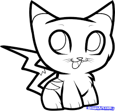 how to draw pikachu kitty pikakitty step 7