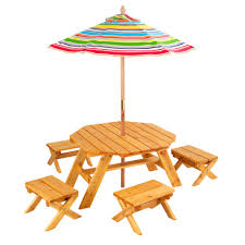 kids kraft outdoor table and chair set with cushions and view larger