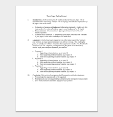 thesis outline template 11 sles
