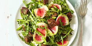 garden greens. Garden Greens And Pumpernickel Panzanella Recipe - How To Make GoodHousekeeping.com R
