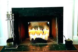 fireplace holder fireplace fireplace candle holder pottery barn fireplace holder