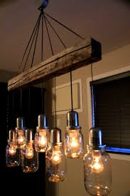 lighting engaging mason jar light fixture lights home depot chandelier amp rustic pallet diy wall