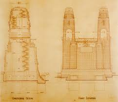 architectural drawings of bridges. Longitudinal Section And Front Elevation Of Sydney Harbour Bridge Pylons. Architectural Drawings Bridges