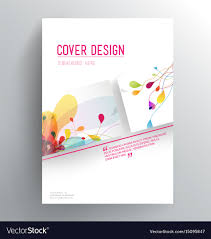 Book Cover Design Free Download Book Cover Design Template With Abstract Colorful