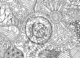 Printable Download Coloring Page Hand Drawn