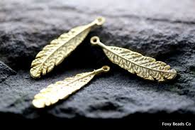 feather charm feather pendant 24k gold plated native american jewelry supplies whole findings eclectic turkish jewelry cng026
