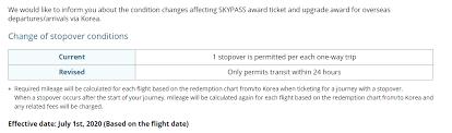 Korean Air Skypass Program To End Free Stopovers Doctor Of