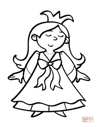 Small Picture Princess with a crown coloring page Free Printable Coloring Pages