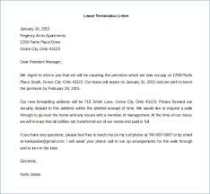 Letter For Lease Termination Termination Letter Sample Sample ...