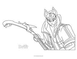 Fortnite Drift Coloring Page Super Fun Coloring Pages In 2019