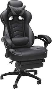 Ficmax Gaming Chair with Footrest Ergonomic PU ... - Amazon.com
