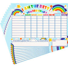 10 Pieces Reward Chore Chart Dry Erase Behavior Chart Learning Responsibility Star Chart Reusable Self Adhesive Reward Chart For Children In Home And